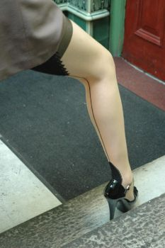 Seamed Stockings... by JonLloydImages