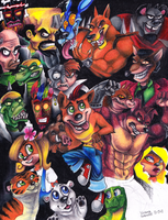 Crash Bandicoot by polar27
