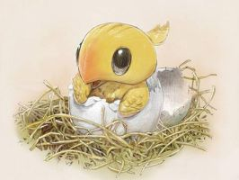 Baby Chocobo by ash1994626