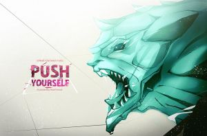 Push Yourself - Motivational poster. by asadfarook