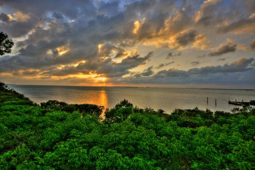 Key Largo Sunset by abstractxposure