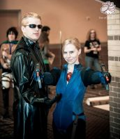 Wesker and Jill Anime Blast Chattanooga 2013 by BlueEyesMaster