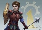 C: Aiden Stoutheart, Halfling Cleric of Guin by bchart