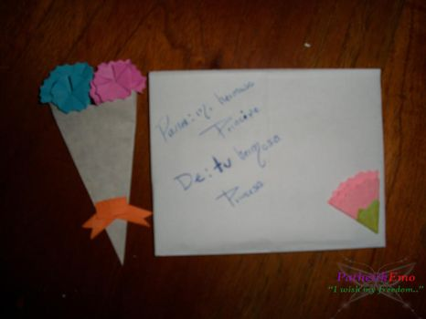 Flowers and a letter by PathetikEmo