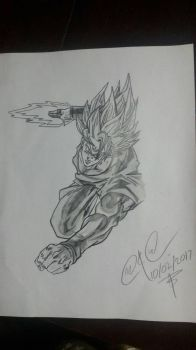Black goku(not done by me) by Johnsuky