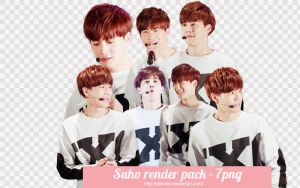 [ PNG PACK ] Suho render - EXO by JulieMin