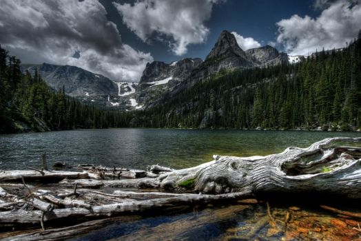 Mountain Lake by abstractxposure