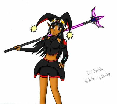 Rebh with Psycho Wand Colored by Rebh