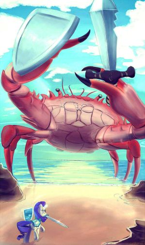 [Image: rarity_fighting_a_giant_crab_by_subjectn...5y7wez.jpg]