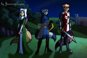 Sibling Thieves in Time - Medieval England by JennissyCooper