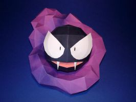 Gastly Papercraft by Skele-kitty