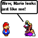 Mario + 100 lbs equals Wario by Mostis