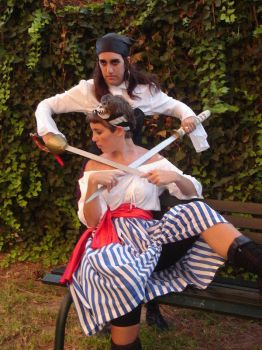 Pirates Aroa and Rei 03 by Girl-x-Girl-Love
