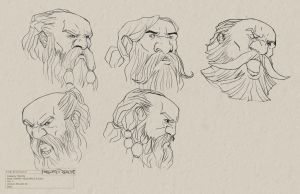 Dwarf Head Study (Male) Concept 03 by Conceptopolis