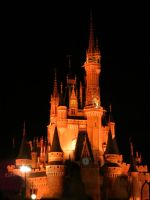 Cinderella's Castle in Orange. by Kanazuchi-Jikan