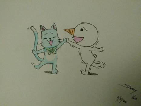 Happy and Plue - Fairy Tail! by NElondra