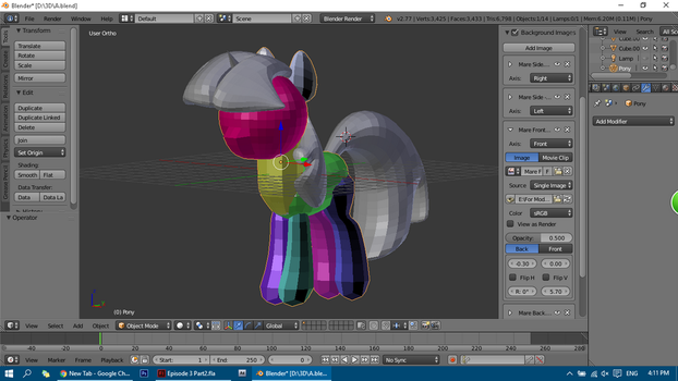 Unicorn Twilight Model W.I.P by Nsmah