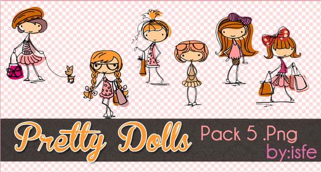 Pretty Dolls .png by isfe by Isfe