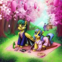 Hanami (commission) by donoguad