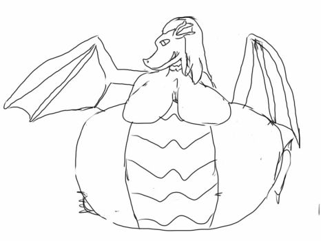 Diamond Wings and HUGE Tummy by caeldragon