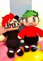 Markiplier and Jacksepticeye plushies by Xiang-shui