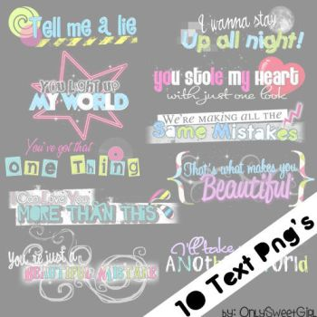 1O Text Png's 1D by OnlySweetGirl