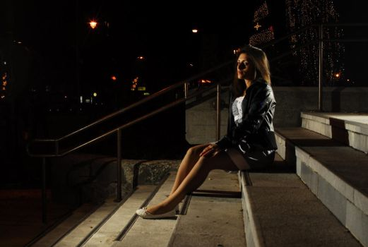 Me.. Night photo session by iSuperGirL1