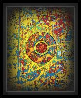 oldpaintingrevisited abstract 0 o by santosam81