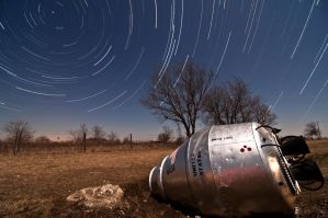 Star Trails and Space Capsules by Bvilleweatherman