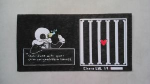Undertale Pen and Ink Bookmark by CloudtheHen
