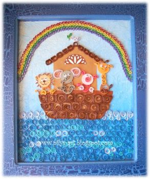 Quilling Noah's Ark by Pilys-art