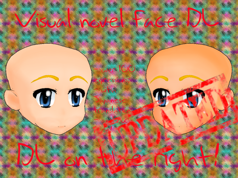 [PMD face download]Visual novel face[UPDATED] by Yowafan