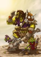 Orc and goblins by effix35