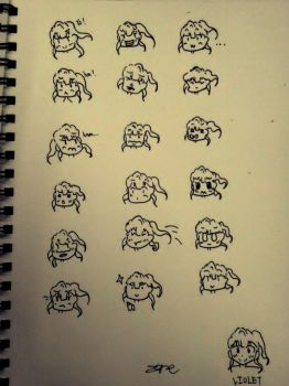 Violet's Q faces by zanewong