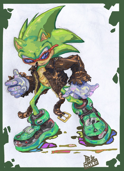 Scourge the Hedgehog by PezAdriArts