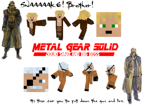 Metal Gear Solid 'Father and Son' Minecraft Skins by NickasaurusREX