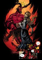 Hellboy and Alice by OXOTHUK