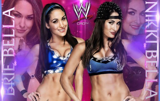 Double Divas : Brie and Nikki Bella. by Cag3dRav3n