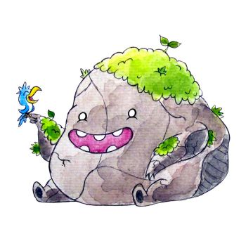 Monster of the Day #1276 Boulder Monster! by jurries21