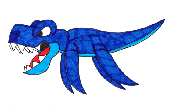 Deep Blue Sea Dinosaur by Genie-Dragon