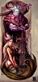 Baugh and His Queen by ArtofTy