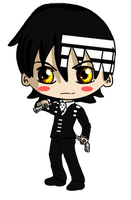 Death the Kid Chibi by IcyPanther1