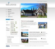 Real Estate Website Template - RE005 by phyllis-L