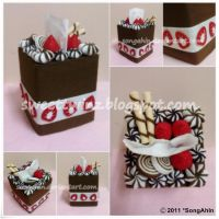 Chocolate Berry Tissue Cake Bx by SongAhIn