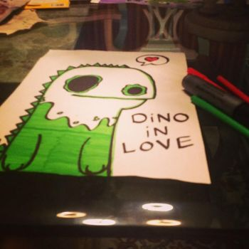 Dino in love by thilee