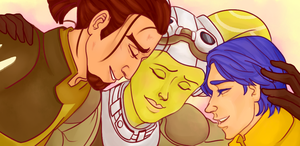The Pilot and  Her Jedi by boxOFjuice
