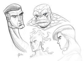 Fantastic Four sketch by MBorkowski
