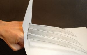 3D Wolverine Claws by ManciniLand