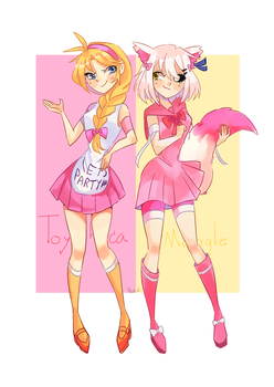 Toy chica and mangle by BenzBT
