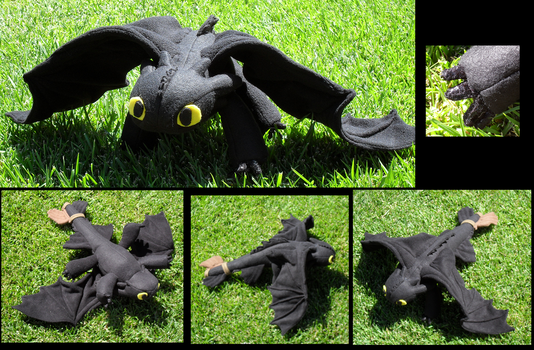Toothless Plushie by racingwolf